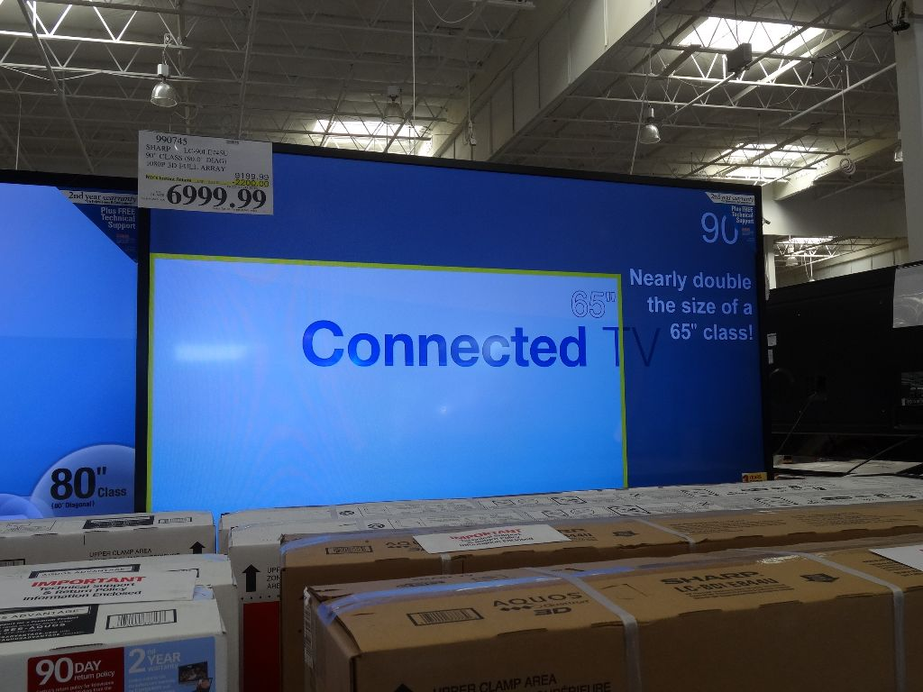 Sharp 90 Inch LC-90LE745U TV Costco