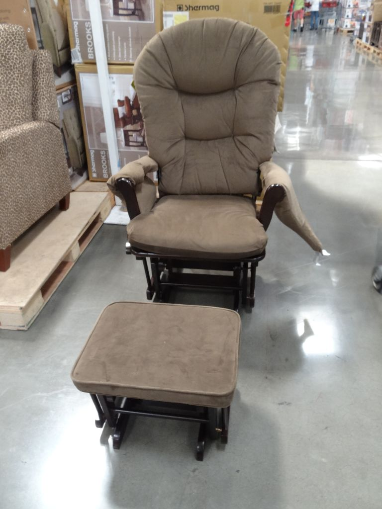 Shermag Brooks Glider Rocker With Ottoman