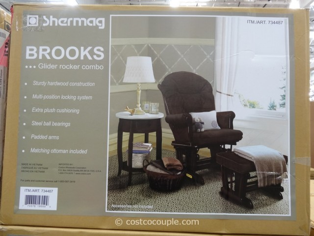 Shermag Brooks Glider Rocker With Ottoman Costco 3