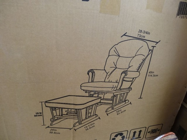 Shermag Brooks Glider Rocker With Ottoman Costco