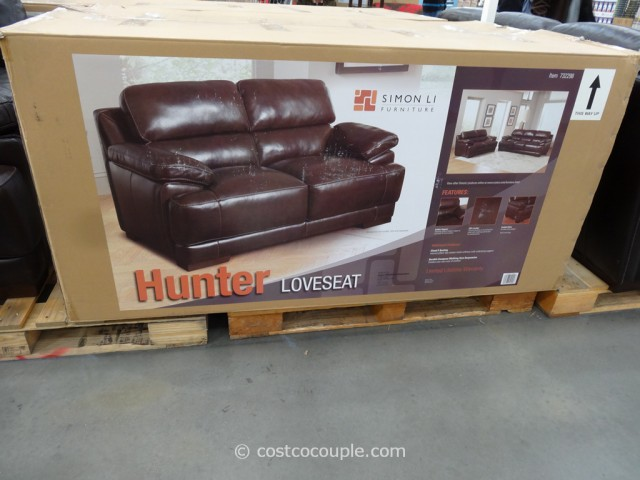 Simon Li Hunter Leather Loveseat Costco 3