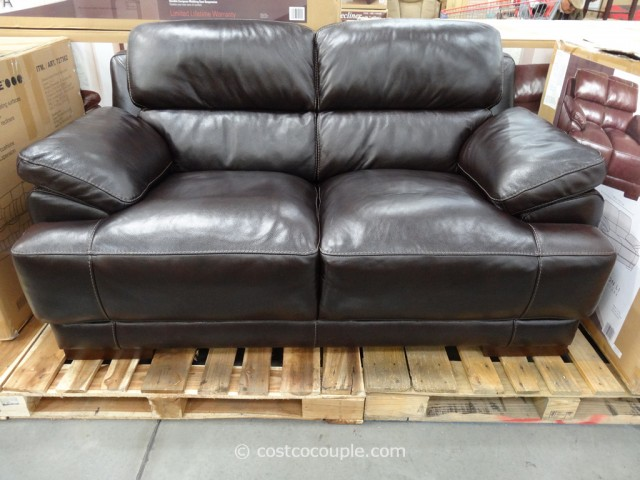 Simon Li Hunter Leather Loveseat Costco 4