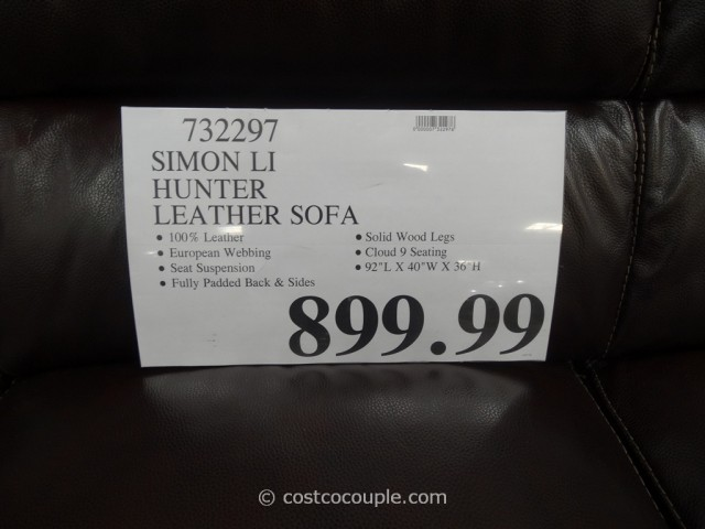 Simon Li Hunter Leather Sofa Costco 1