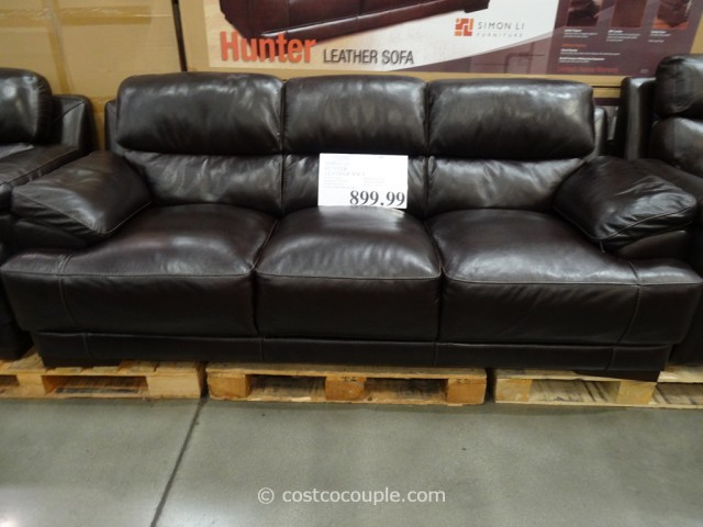 Simon Li Hunter Leather Sofa Costco 2 ...