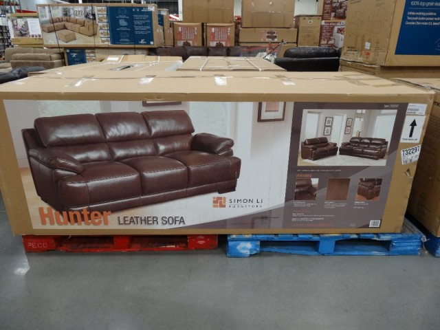 Simon Li Hunter Leather Sofa Costco