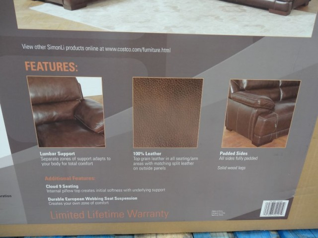... Simon Li Hunter Leather Sofa Costco ...