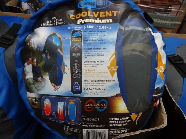 SleepCell Coolvent Premium Sleeping Bag Costco