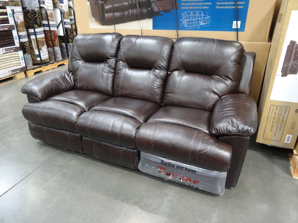 Spectra mckinley leather power motion sofa Leather loveseat recliners