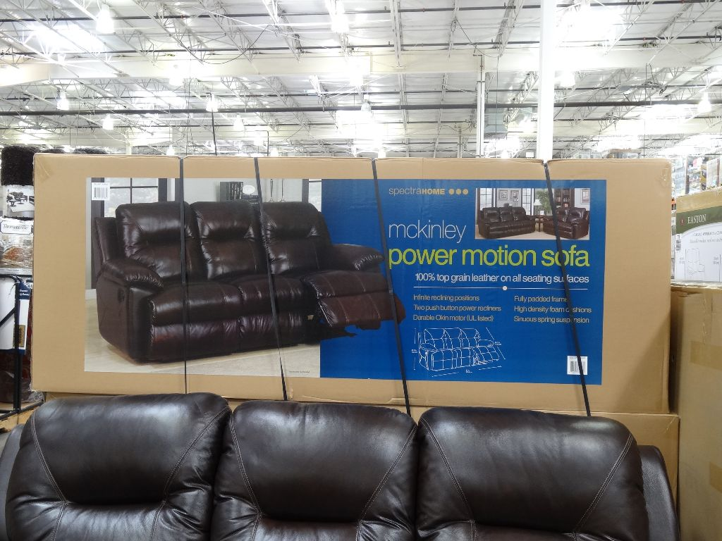 Marvelous Spectra McKinley Leather Power Motion Sofa Costco