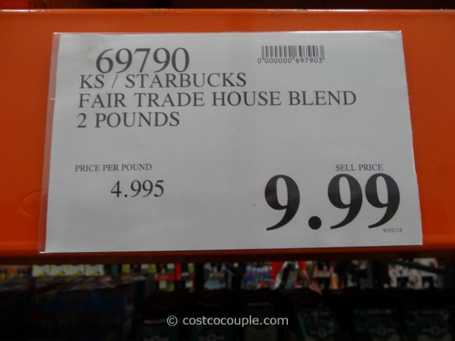 Starbucks Fair Trade House Blend Coffee Costco 1