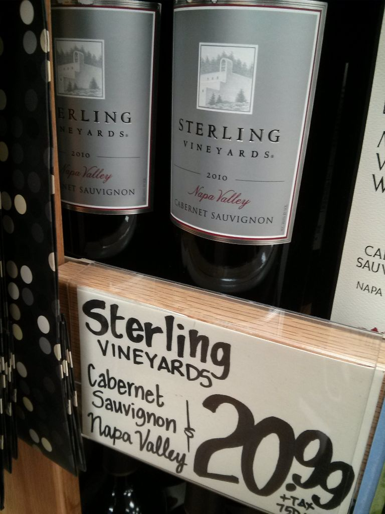 Sterling Vineyards 2010 Cabernet Sauvignon Trader Joes