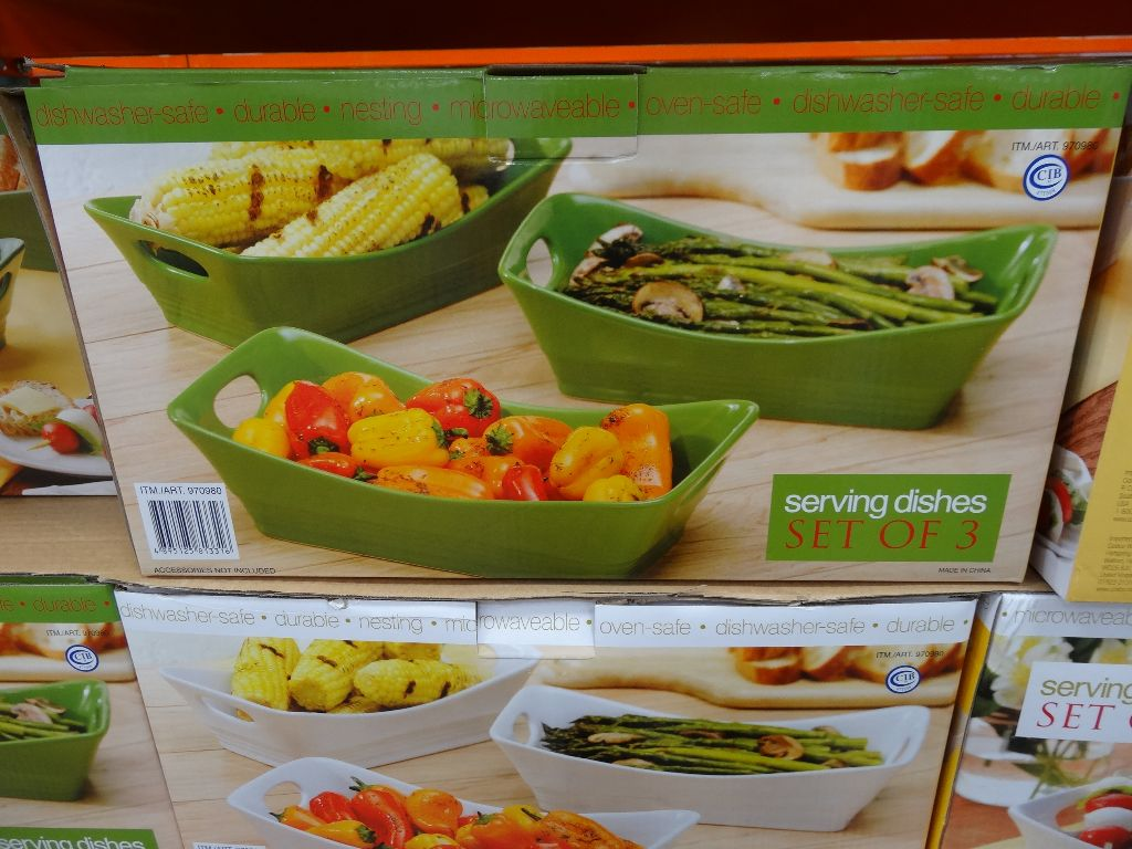 Stoneware 3 Piece Serving Dishes Costco