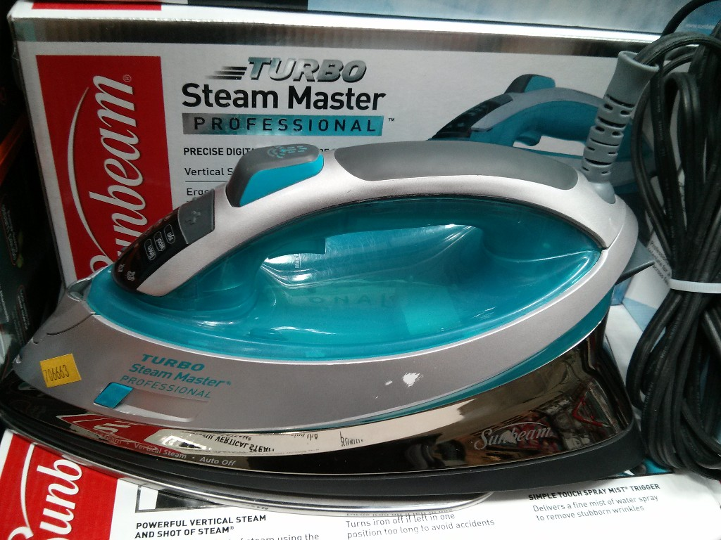 Sunbeam Turbo Steam Master Professional Iron Costco