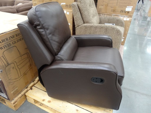 Synergy Caroline Leather Swivel Glider Costco