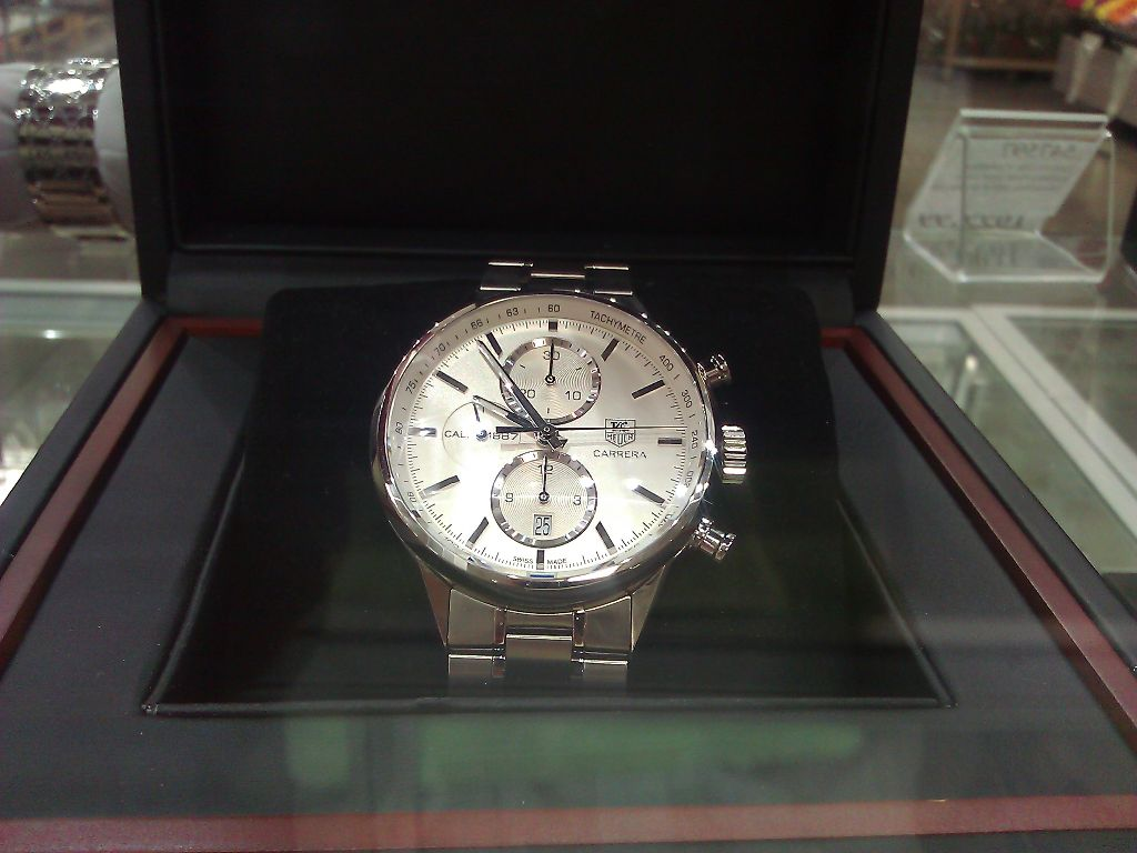 Tag Heuer Carrera Silver Costco 1