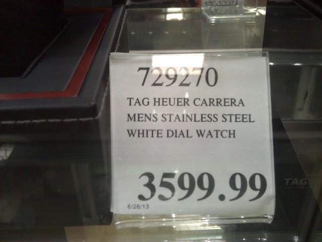 Tag Heuer Carrera Silver Costco