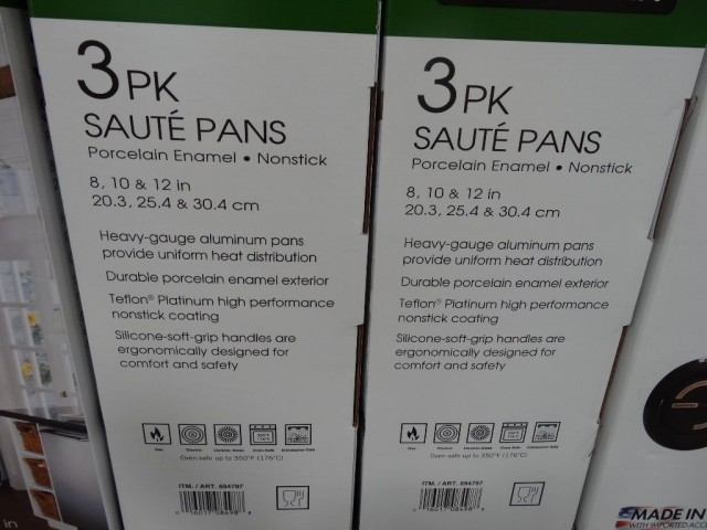 Tramontina 3 Pack Saute Pans Costco