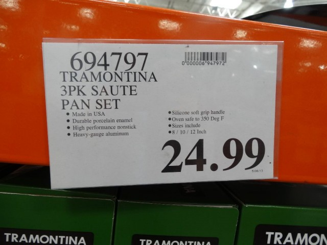 Tramontina 3 Pack Saute Pans Costco