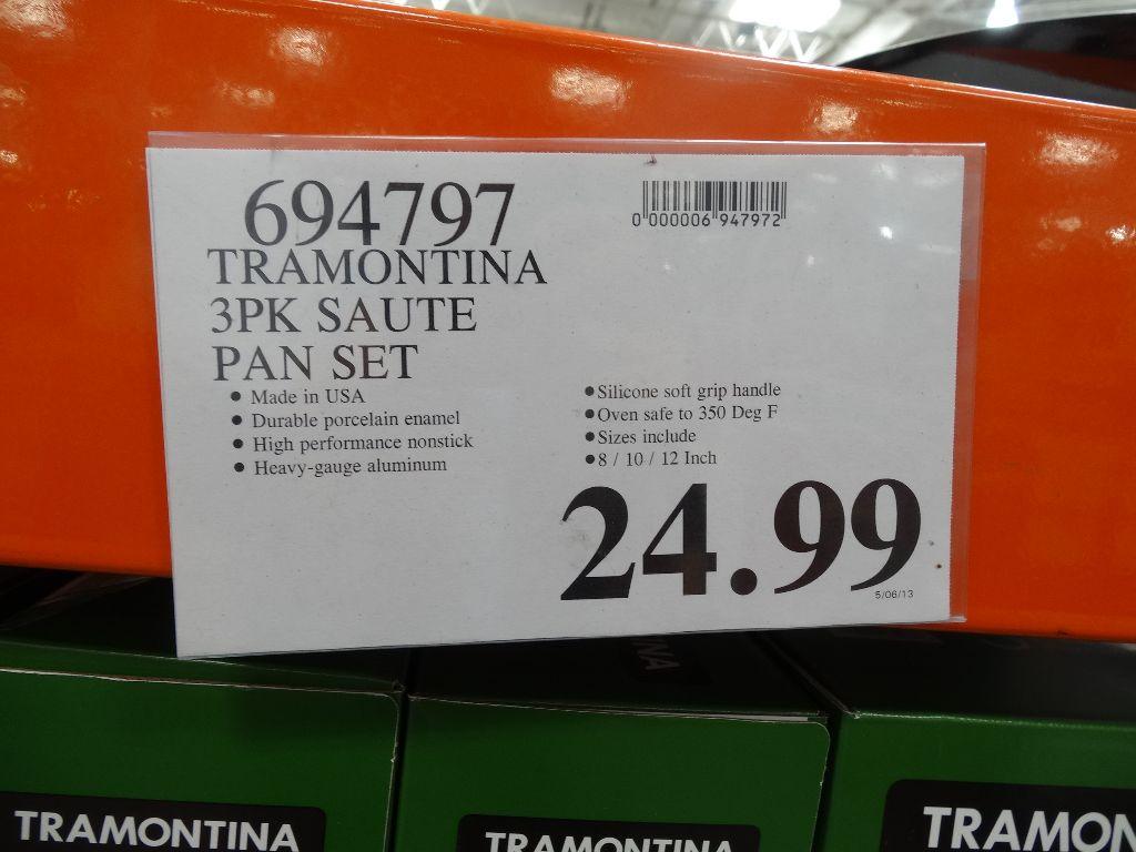 Tramontina 3 Pack Saute Pans