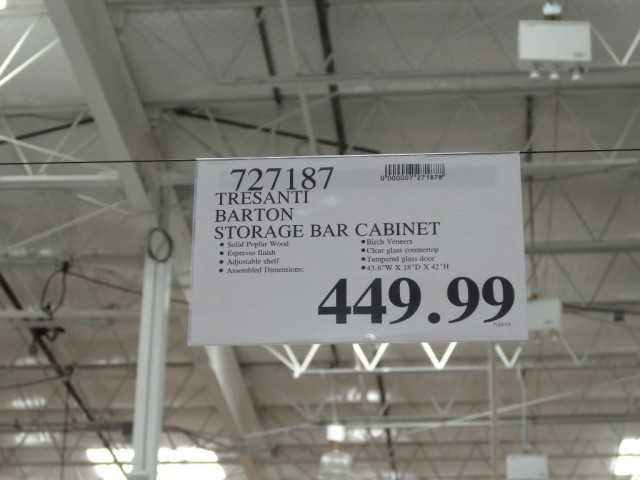 Tresanti Barton Storage Bar Cabinet Costco