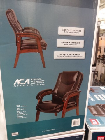 True Innovations Wood Leather Side Chair Costco