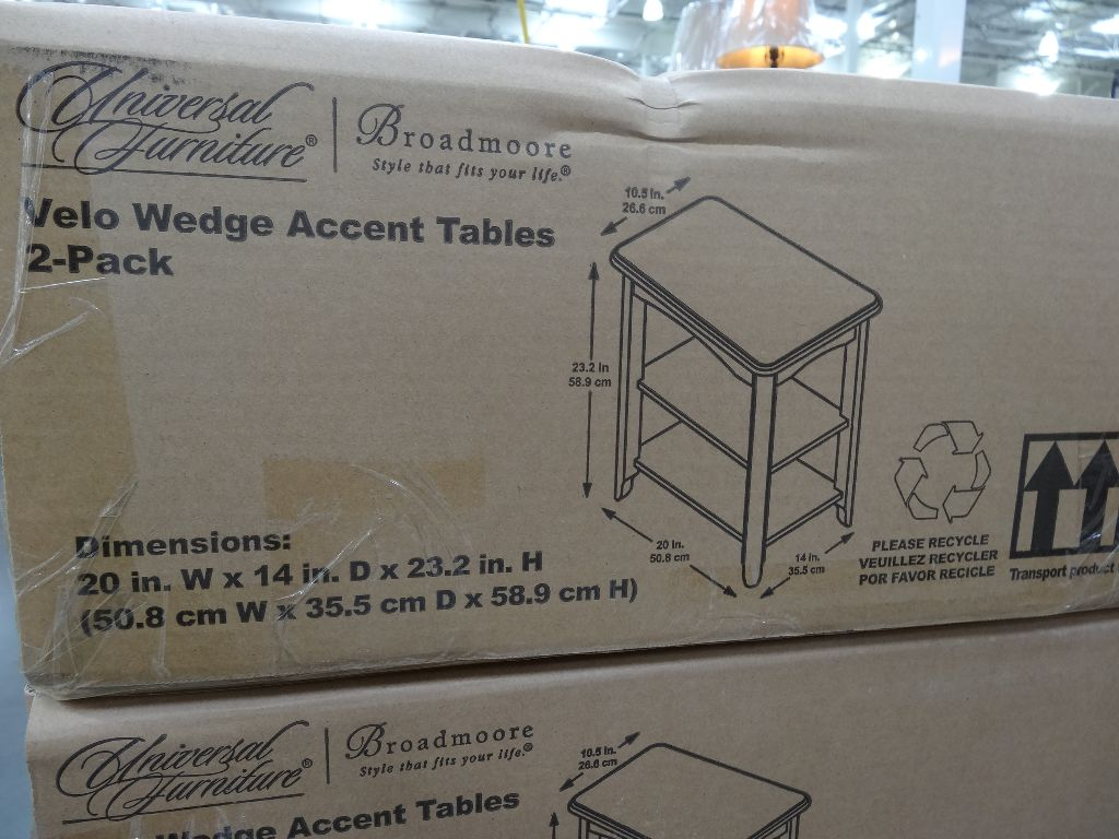 Universal Furniture Velo Wedge Tables