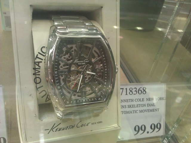 Kenneth Cole Men's Skeleton Dial Costco