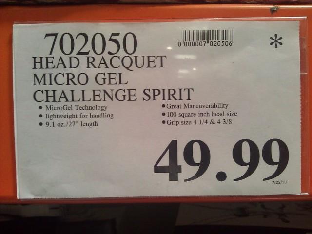 Head Micro-Gel Tennis Racquet Costco - Price