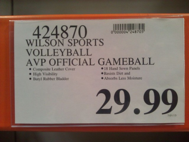 Wilson Official AVP Game Volleyball Costco