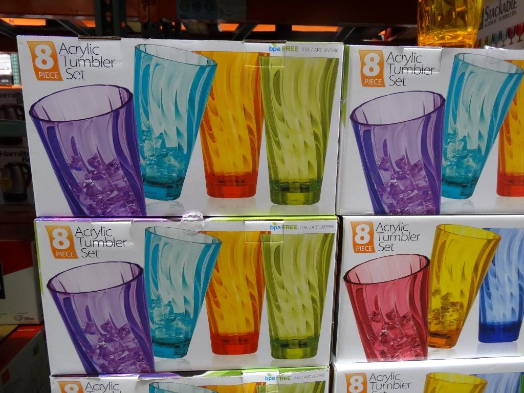 Wave Tumbler Drinkware Set Costco