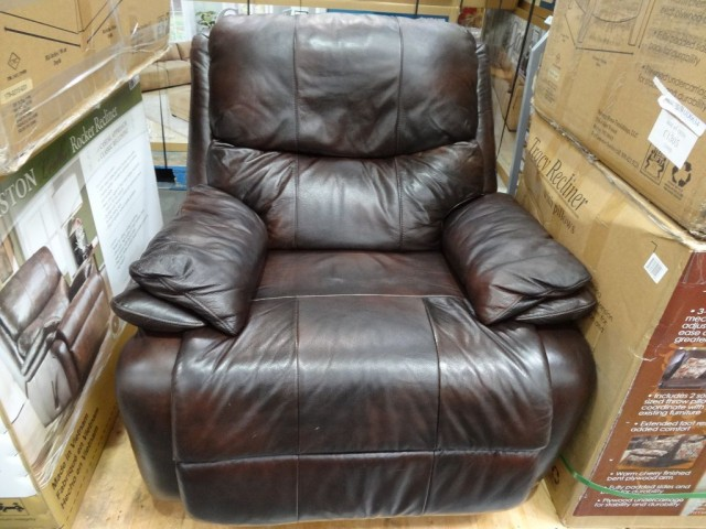 Woodworth Easton Leather Rocker Recliner