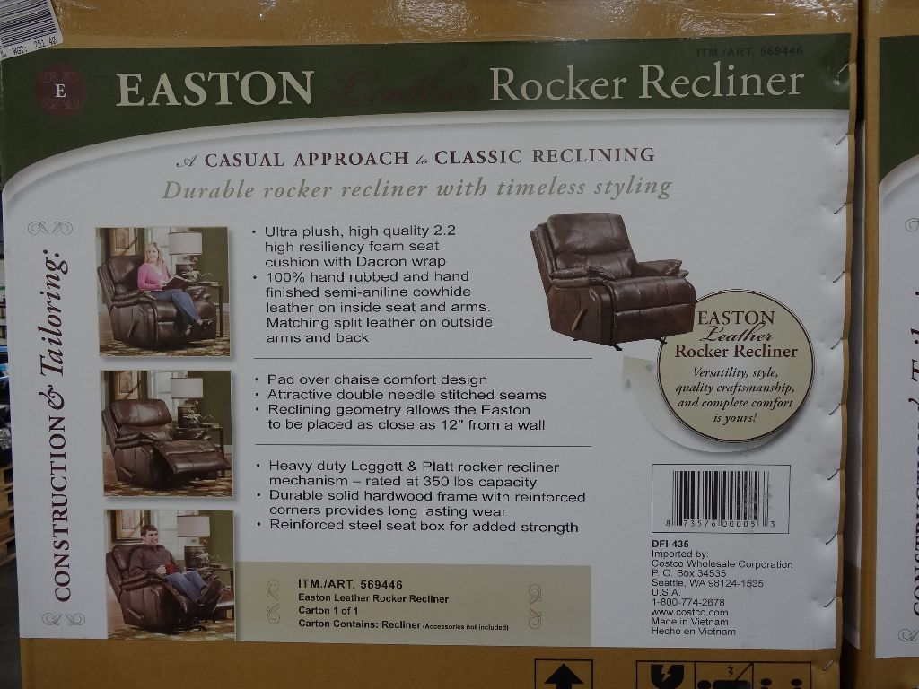 stunning woodworth easton leather recliner costco with leather rocker recliner & Leather Rocker Recliner. Top Jayron Leather Rocker Recliner By ... islam-shia.org