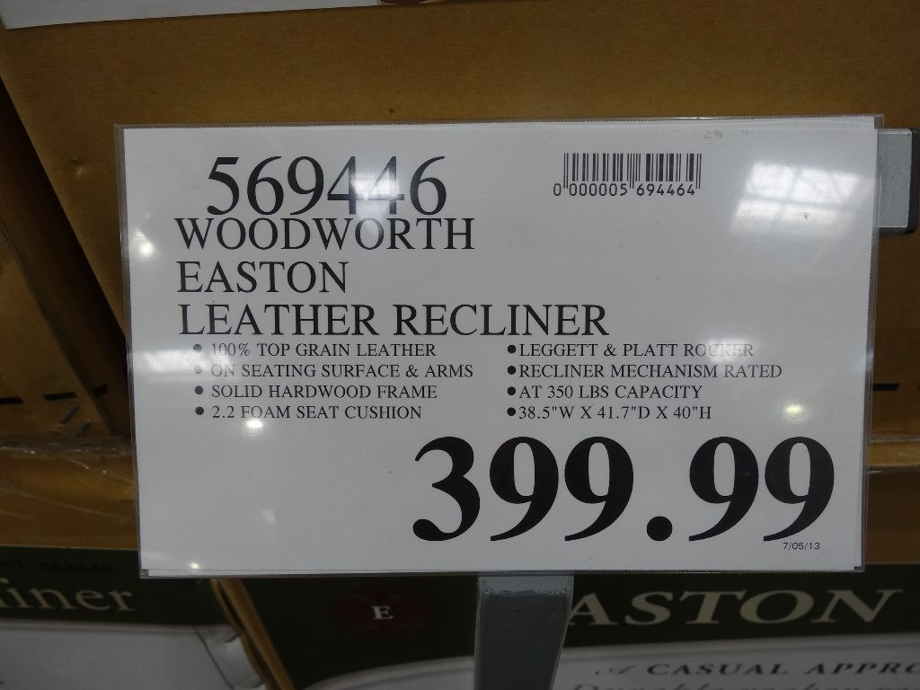 ... Woodworth Easton Leather Recliner Costco & Woodworth Easton Leather Rocker Recliner islam-shia.org