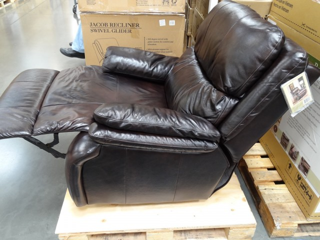 Woodworth Easton Leather Recliner Costco 4