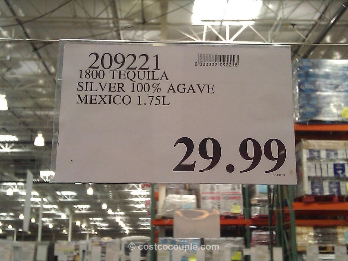 1800 Tequila Silver 100% Agave Costco 1