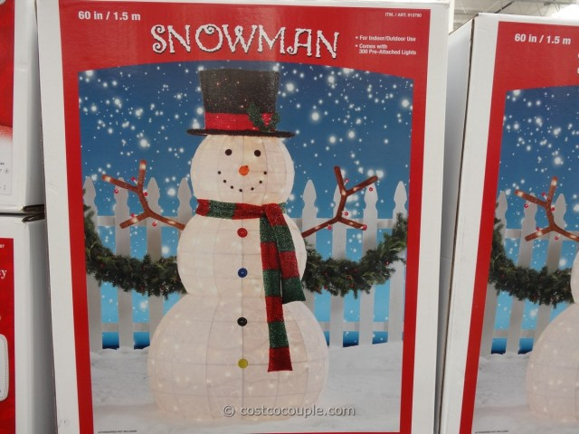 60 Inch Lighted Snowman Costco 2