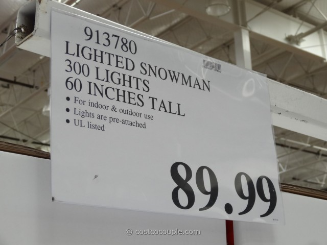 60 Inch Lighted Snowman Costco 3
