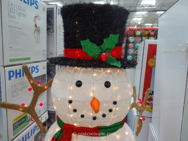 60 inch lighted snowman for Large outdoor light up christmas ornaments