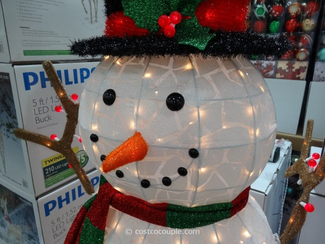 60 Inch Lighted Snowman Costco 8