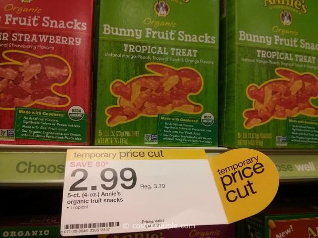 Annies Organic Bunny Fruit Snacks Target