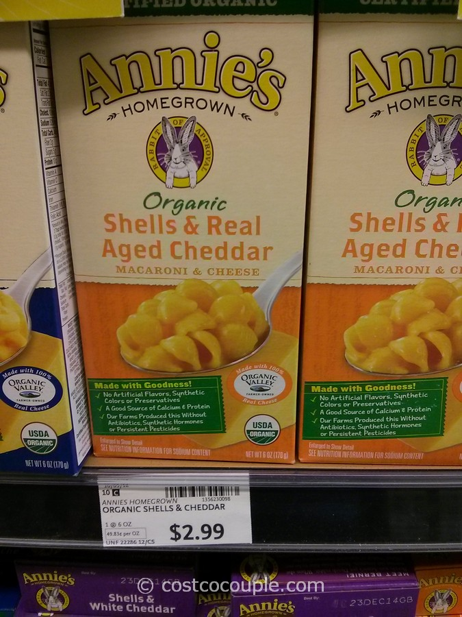 Annies Organic Shells and Cheddar Macaroni and Cheese Whole Foods 1
