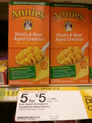 Annies Shells and Cheddar Macaroni and Cheese Target