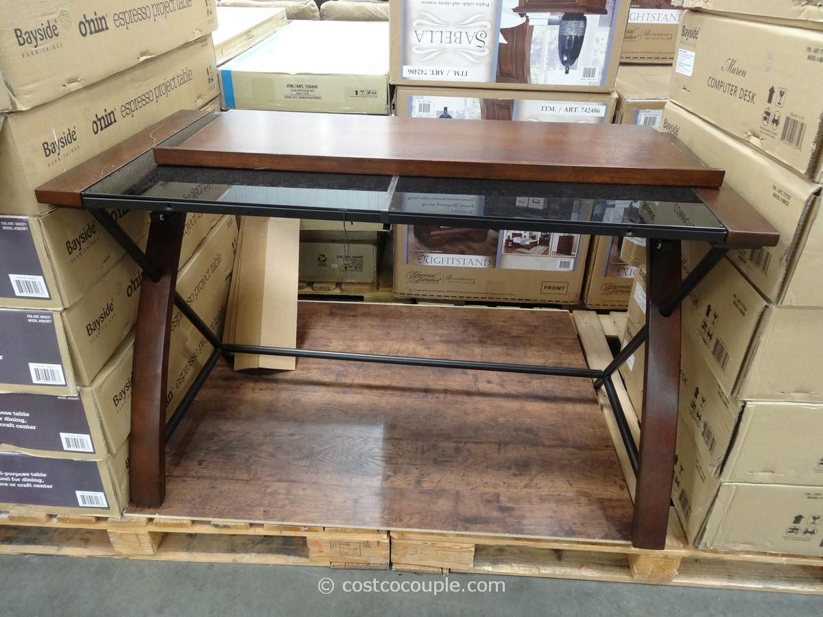 Desk With Glass Top At Costco Hostgarcia