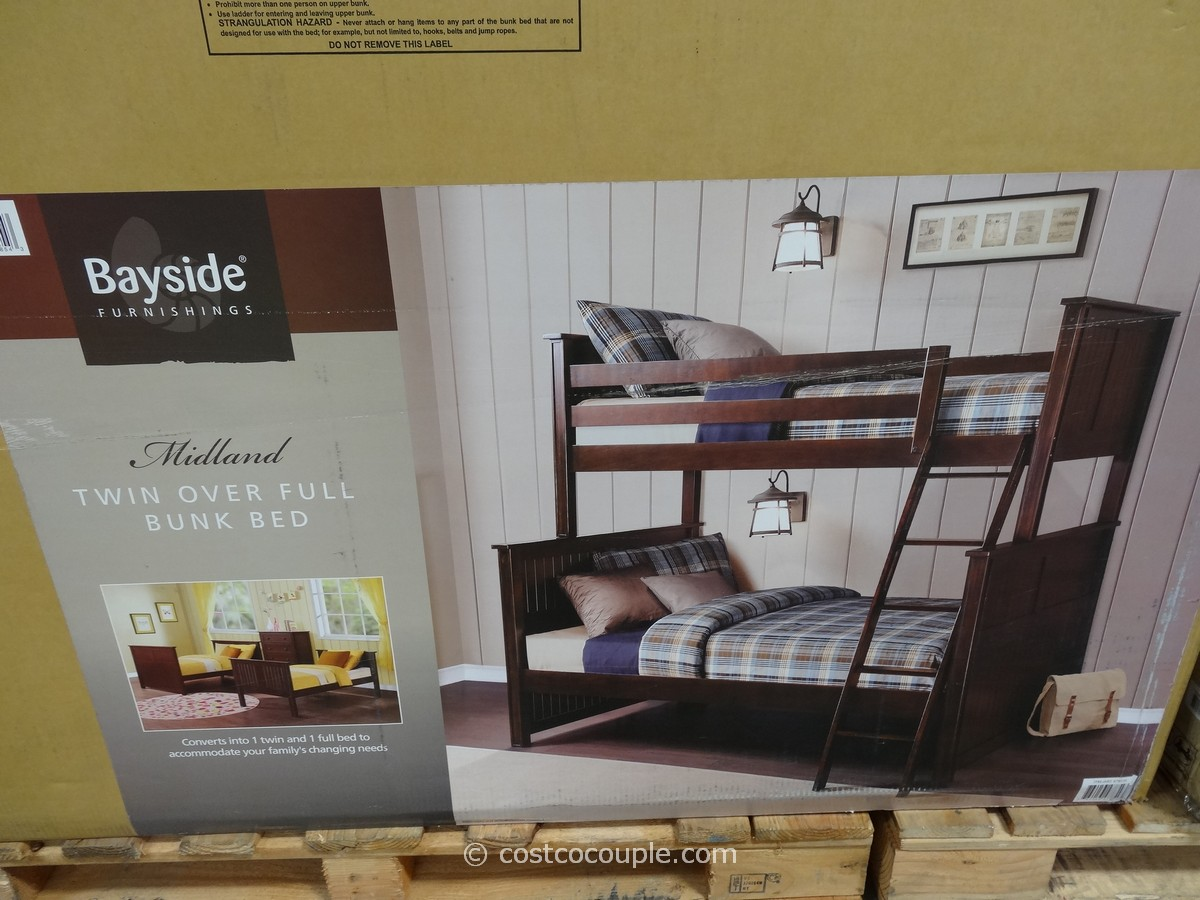 Bayside Furnishings Midland Twin Over Full Bunkbed Costco