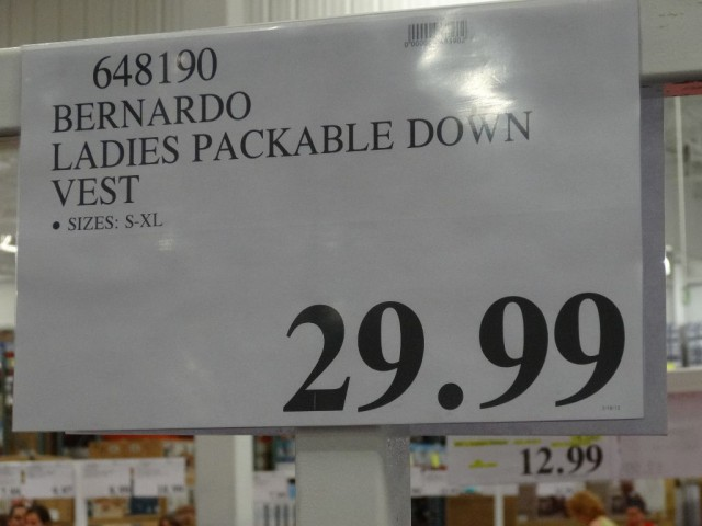 Bernado Ladies Packable Down Vest Costco
