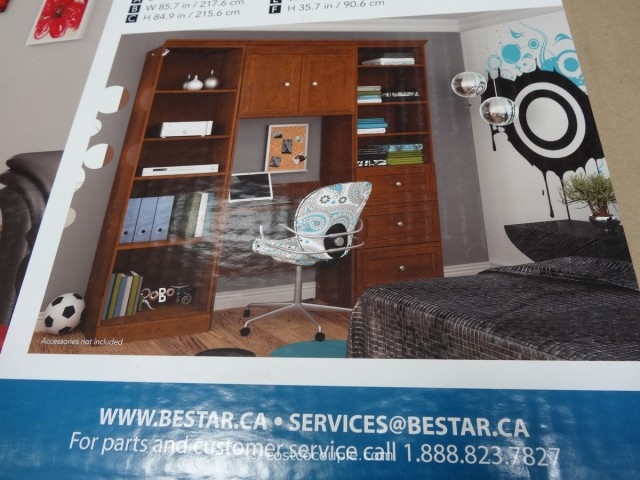 Bestar Peyton Wall Unit Costco 6