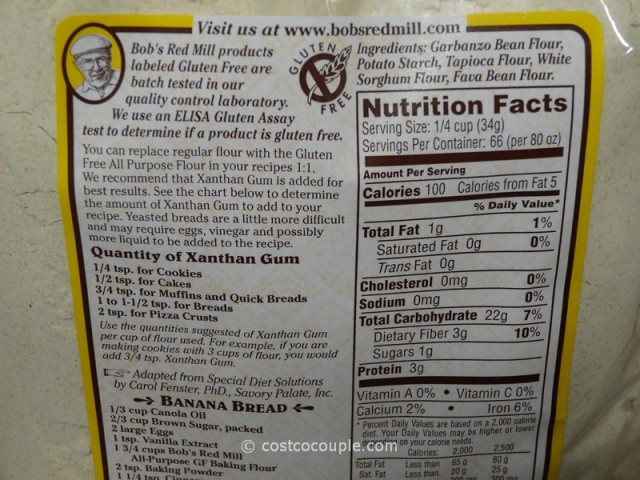 Bobs Red Mill Gluten Free Flour Costco
