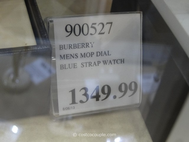 Burberry Mens Mop Dial Blue Strap Watch Costco 2