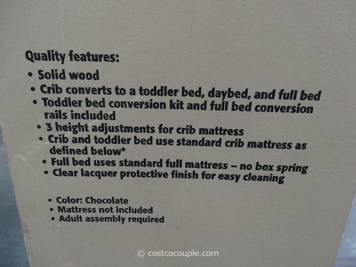 White plastic toddler bed costco - Cafe Kid Devon Convertible 4 In 1 Crib Costco 3