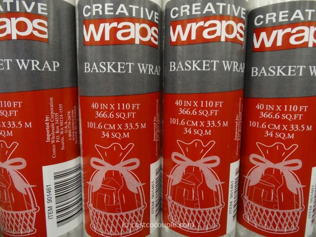 Cellophane Basket Wrap Costco 2